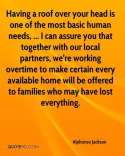 Having a roof over your head is 