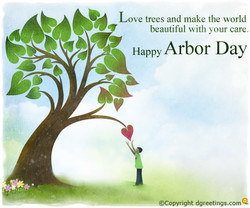 Love trees and make the world 