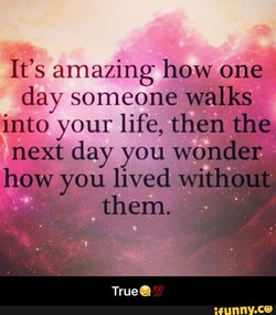 It's amazing how one 