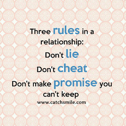 rules In a 