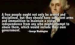 A free people ouqht not only be arrfied and 