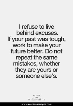 I refuse to live 