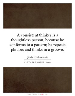A consistent thinker is a 