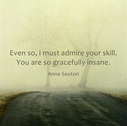 Even so, I must admire your skill. 