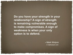 Do you have your strength in your 