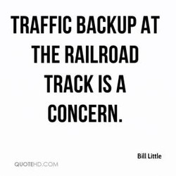 TRAFFIC BACKUP AT 