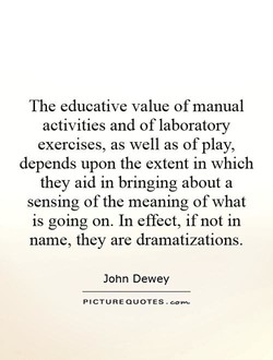 The educative value of manual 