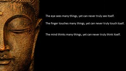 The eye sees many things, yet can never truly see itself. 