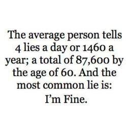 The average person tells 
