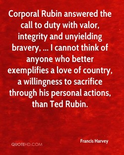 Corporal Rubin answered the 