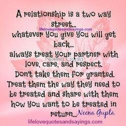 A peJationship is a two wag 