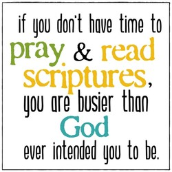if don't have time to 
