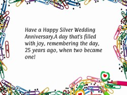 Have a Happy Silver Wedding 