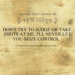 . Lyrics , That' Saved Me 