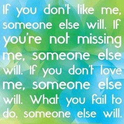 IF you don't like me, 