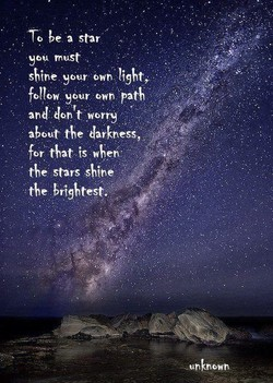 To be •a star 