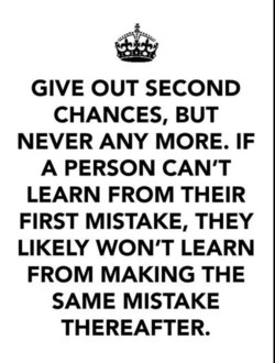 GIVE OUT SECOND 