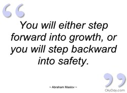 You will either step 