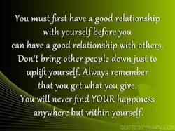 You must first have a good relationship 
