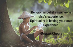 Religion is belief insomeone 