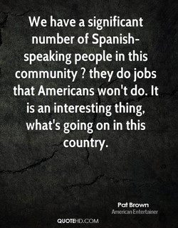We have a significant 