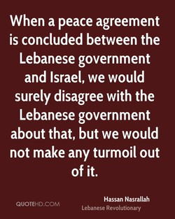 When a peace agreement 