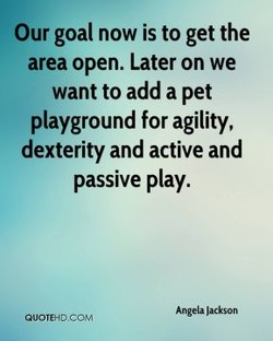 Our goal now is to get the 