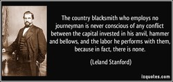 The country blacksmith who employs no 