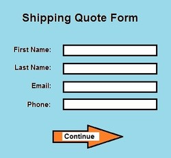 Shipping Quote Form 
