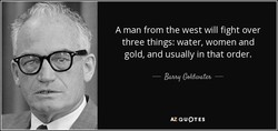 A man from the west will fight over 