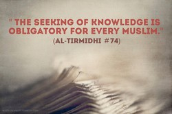 THE SEEKING OF KNOWLEDGE rs 