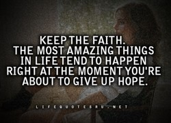 KEEPJHE FAITH. 