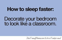 How to sleep faster: 