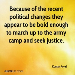 Because of the recent 