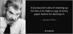 A bureaucrat's idea of cleaning up 