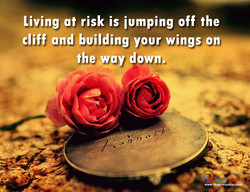 Living at risk is iumping off the 