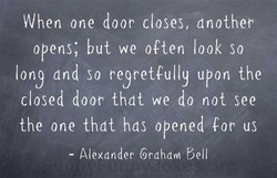 When one door closes, another 