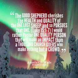 The GOOD SHEPHERD cherishes 