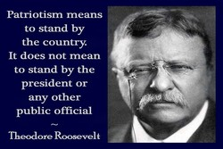 Patriotism means 