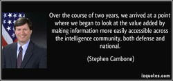 Over the course of two years, we arrived at a point 