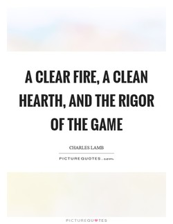 A CLEAR FIRE, A CLEAN 