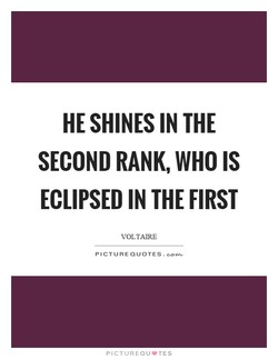 HE SHINES IN THE 