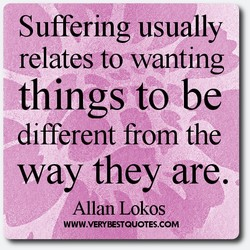 Suffering usually 