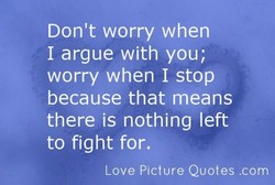 Don't worry when 