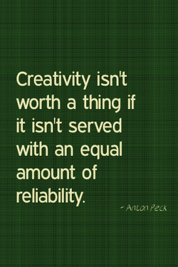 Creativity isnt 