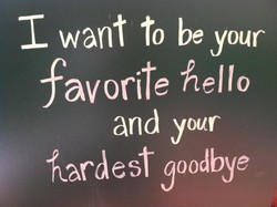 want to be your 