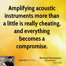 Amplifying acoustic 