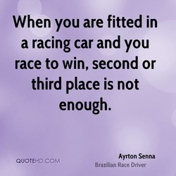When you are fitted in 
