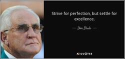 Strive for perfection, but settle for 