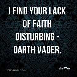 I FIND YOUR LACK 